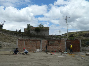 The construction of the school kitchen in Balda Lupaxi has started