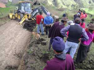 Beginning the construction of the Esperanza dairy