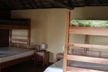 Inside, beds for 6 and private bathroom