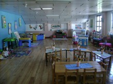 Wooden floor were installed in every classroom